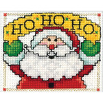 "2""X3"" - HO HO HO Ornament Counted Cross Stitch Kit"