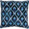 12 inches X12 inches  Stitched In Yarn - Blue Ikat Needlepoint Kit Tobin-Design Works: Needlepoint Kit. Beautiful designs and top quality materials make Tobin one of the needle kit makers worldwide. Perfect for pictures or pillows! This package contains 12-count interlock canvas printed in full color, acrylic yarns, one needle and instructions. Backing fabric not included. Design: Blue Ikat. Finished size: 12x12 inches. Made in USA.