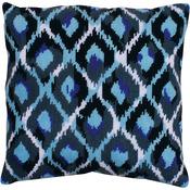 "12""X12"" Stitched In Yarn - Blue Ikat Needlepoint Kit"