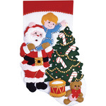 "16"" Long - Reach For The Star Stocking Felt Applique Kit"