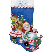 "18"" Long - Flying Santa Stocking Felt Applique Kit"