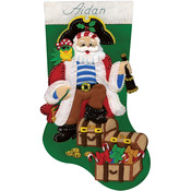 "18"" Long - Pirate Stocking Felt Applique Kit"