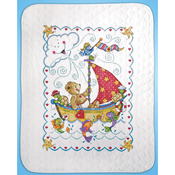 Sail Away Baby Quilt Stamped Cross Stitch Kit