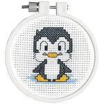 "3"" Round 11 Count - Kid Stitch Penguin Mini Counted Cross Stitch Kit"