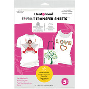 "8.5""X11"" 5/Pkg - Heat'n Bond EZ Print Transfer Sheet"