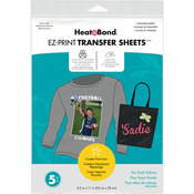 "8.5""X11"" 5/Pkg - Heat'n Bond EZ Print Transfer Sheet"