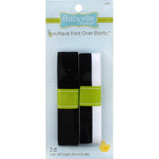 "Babyville Boutique Fold - Over Elastic 1""X4yd - Black & 2-Tone"