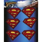 "Superman Insignia 2""X1.5"" 6/Pkg - DC Comics Patch"