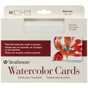 "Watercolor Cold Press - Strathmore Cards & Envelopes 5""X7"" 10/Pkg"
