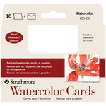 "Watercolor Cold Press - Strathmore Cards & Envelopes 3.5""X4.875"" 10/Pkg"