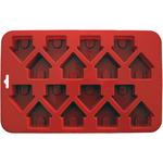 "9""X5.5"" 16 Cavity (1.5""X1.5"") - Mini Dog Houses Silicone Cake Pan"