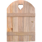 "Wood - Mini Garden Fairy Door 6""X4"""