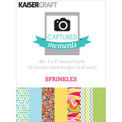 "Sprinkles - Captured Moments Double-Sided Cards 3""X4"" 48/Pkg"