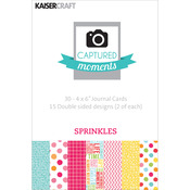 "Sprinkles - Captured Moments Double-Sided Cards 6""X4"" 30/Pkg"