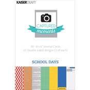 School Days 6 x 4 Captured Moments Double - Sided Cards - KaiserCraft