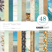 Sandy Toes Salty Kisses 12 x 12 Paper Pad - KaiserCraft
