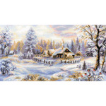 "16""X9"" 14 Count - Winter Evening Counted Cross Stitch Kit"