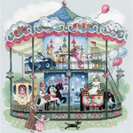 "13.75""X13.75"" 14 Count - Carousel Counted Cross Stitch Kit"