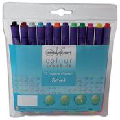 Manuscript Color Creative Broad Tip Felt Markers 12/Pkg-