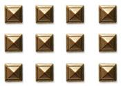 Repeat Metal Brass Square Studs - Art C