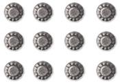 Silver Decorative Round Metal Studs - Art C