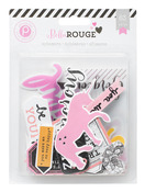 Bella Rouge Ephemera Pack - Pink Paislee