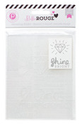 Bella Rouge Shine Bright Embossing Folder - Pink Paislee