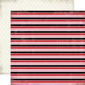 Lovely Stripe Paper - Words Of Love - Carta Bella