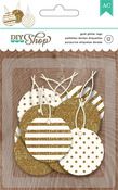Gold Glitter Circle Tags - DIY Shop 2  - American Crafts