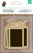 DIY Shop 2 Kraft With Chalkboard Tags - American Crafts