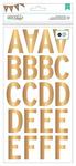 Gold Subway Large Alpha Stickers - DIY Shop 2 - American Crafts