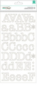 White Typewriter Large Alpha Stickers - DIY Shop 2 - American Crafts