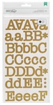 Gold Typewriter Large Alpha Stickers - DIY Shop 2 - American Crafts