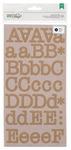Kraft Typewriter Large Alpha Stickers - DIY Shop 2 - American Crafts