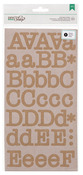 Kraft Typewriter Large Alpha Stickers - DIY Shop 2 - American Crafts