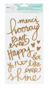 Royal Gold Foil Chipboard Word Thickers - Serendipity - Dear Lizzy