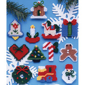 7 Count - Country Christmas Ornaments Plastic Canvas Kit
