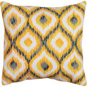 "12""X12"" Stitched In Yarn - Yellow Ikat Needlepoint Kit"