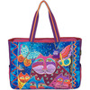 Cats W/Butterflies - Oversized Tote 20.5 X5.5 X15  Laurel Burch-Oversized Tote: Cats With Butterflies. The brilliant hues and wonderful patterns of these carefully designed bags appeal to everyone. They are artful and useful at the same time! This 14- 1/4x19x5-1/2 inch oversized tote features two 24 inch handles, one large zipper compartment, two outer side pockets, one cell phone pocket and one inside zipper pocket. Do not wash-spot clean only. Imported.
