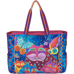 "Cats W/Butterflies - Oversized Tote 20.5""X5.5""X15"""