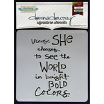 She Chooses - Donna Downey Signature Stencils