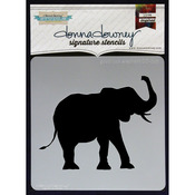 "Good Luck Elephant - Donna Downey Signature Stencils 8.5""X8.5"""