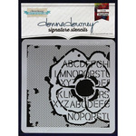 "Poppy Collage - Donna Downey Signature Stencils 8.5""X8.5"""
