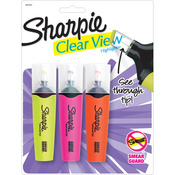 Yellow, Pink & Orange - Sharpie Clear View Highlighters 3/Pkg