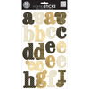 Large Alphabet Stickers - Century Medium Gold Rush