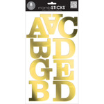 Century Caps Gold Foil - Large Alphabet Stickers