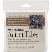 "Toned Tan - Strathmore Tiles 4""X4"" 30/Pkg"