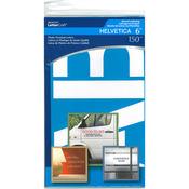 """Helvetica 6"""" - Alphabet Stencils 150/Pkg"""