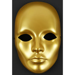 Gold - Mask-It Form Full Face 8.5""