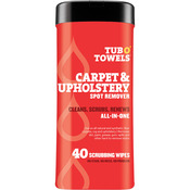 "Heavy Duty Carpet & Upholstery Wipes - Tub O' Towels 7""X8"" 40/Pkg"
